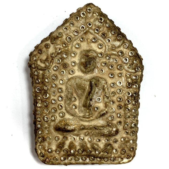 Khun Phaen 2515 LP Tim 2nd Prizewinner Nuea Pong Prai Kumarn & Certificate 50 Gold Takrut 300 Chanuan Beads Wat Laharn Rai
