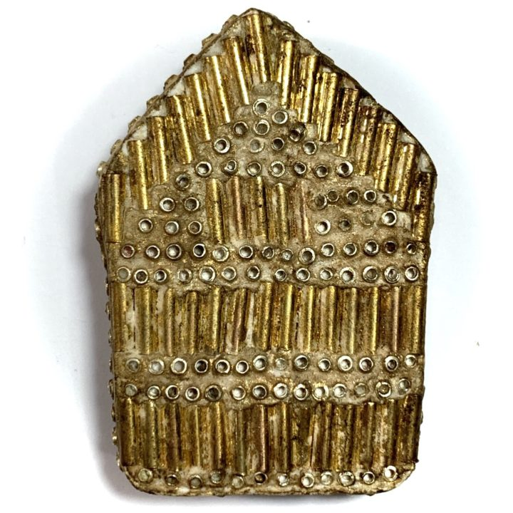 Rear face Pra Khun Phaen 2515 LP Tim 2nd Prizewinner Nuea Pong Prai Kumarn & Certificate 50 Gold Takrut 300 Chanuan Beads